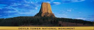 Devils Tower NHA I Devils Tower Panoramic Magnet