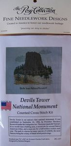 Devils Tower NHA I Devils Tower Cross Stitch