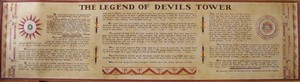 Devils Tower NHA I Devils Tower Scroll Poster