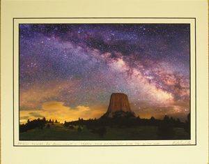 Devils Tower NHA I DT Photo - Milky Way Close Encounter
