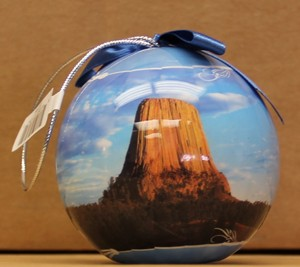 Devils Tower Round Ornament