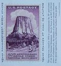 Devils Tower 1956 Replica Stamp